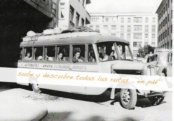 rutas autobuses burgos amaya